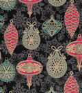 Christmas Cotton Fabric -Ornaments and Snowflakes