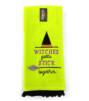 Maker's Halloween Decor 16''x26'' Towel-Witches Gotta Stick Together
