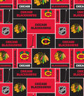 Chicago Blackhawks Fleece Fabric 60\u0027\u0027-Block