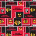 Chicago Blackhawks Fleece Fabric -Block
