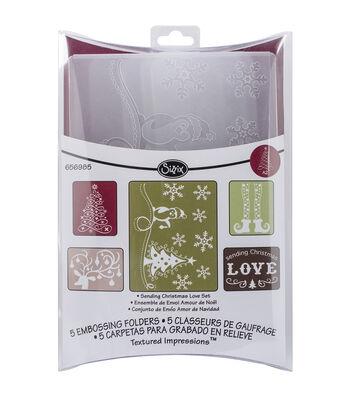 Sizzix Textured Impressions Emboss Folder-Sending Christmas Love