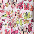 Fast Fashion Dobby Print Fabric-Geranium Butterflies