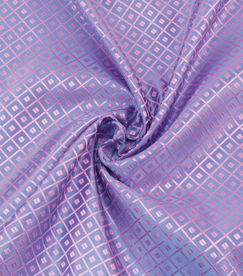 "Cosplay by Yaya Han Brocade Fabric 58""-Japanese Geometric Blue & Pink"