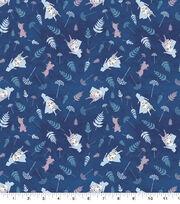Disney Frozen 2 Cotton Knit Fabric-Elsa & Anna Silhouettes, , hi-res