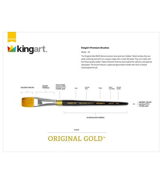 Golden Taklon Aqua Wash Acrylic//Gold KINGART Original 9550A Series Size 1//2