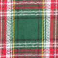 Plaiditudes Brushed Cotton Fabric-Green & Red Tartan Plaid