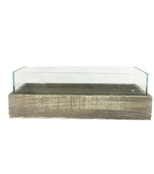 Bloom Room Artisan Glass & Wood Rectangle Container