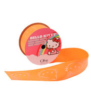 1 And Half In Hello Kitty Neon Orange Ribbon, , hi-res