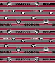 College Teams Georgia Bulldogs Cotton Fabric 44''-Polo Stripe, , hi-res