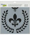 The Crafter\u0027s Workshop 12\u0027\u0027x12\u0027\u0027 Stencil-Laurel Wreath