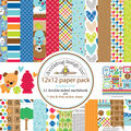 Doodlebug Double-Sided Paper Pack 12\u0022X12\u0022-Puppy Love