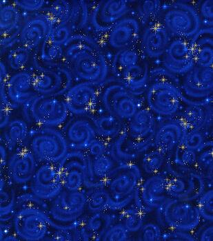 Premium Cotton Fabric -Stars on Midnight