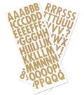 Sticko Futura Regular Dimensional Burlap Alphabets Stickers