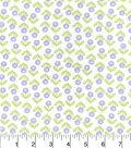 Nursery Cotton Fabric -Purple Flower