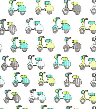 Doodles Juvenile Apparel Fabric -Scooters