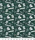 Michigan State University Spartans Cotton Fabric-Tone on Tone
