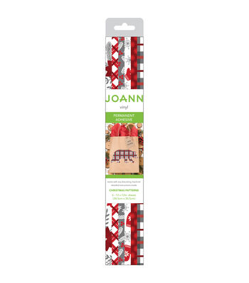 """Joann Vinyl 12""""x12"""" Roll-Red White Christmas"""