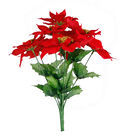 Blooming Holiday Christmas Small Poinsettia Bush-Red