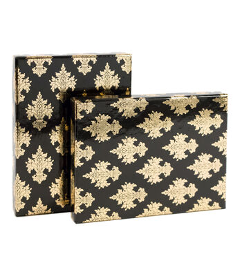 DCWV Designer Set of A6 Boxes: Black and Gold