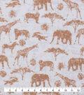 Novelty Cotton Fabric-Safari On Map Tan