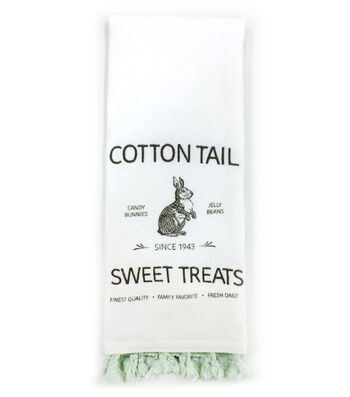 Easter 28''x16'' Towel-Cottontail & Bunny