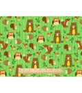 Snuggle Flannel Fabric -Woodland Friends Green