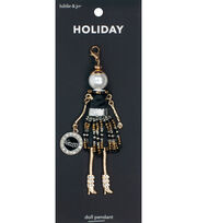 hildie & jo Holiday Doll Pendant-New Year's Salud, , hi-res