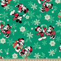 Disney Mickey & Minnie Fleece Fabric-Snowflake Toss