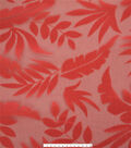 Tropic Time Burnout Fabric 52\u0027\u0027-Orange Tropical Leaves