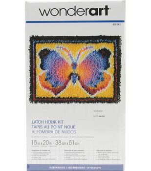 """Wonderart Latch Hook Kit 15""""X20""""-Butterfly Fantasy"""