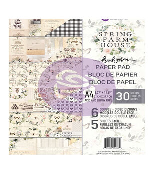 Prima Marketing Spring Farmhouse 30-sheet A4 Double-sided Paper Pad