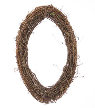 14''x21'' Grapevine Oval Wreath
