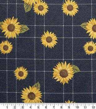 Sew Sweet Taffeta Fabric-Sunflower Plaid
