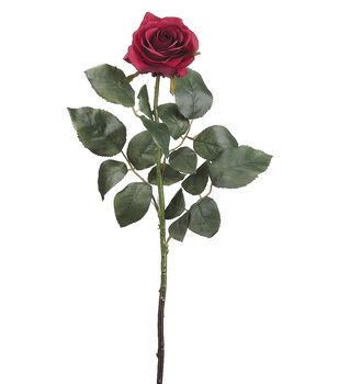 "Bloom Room 27.5"" Confetti Rose Stem-Two Tone Burgundy"