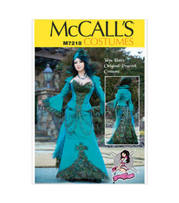 McCall's Pattern M7218-Yaya Han Peacock Jacket, Corset and Skirt