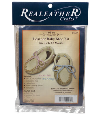Realeather Crafts Leather Baby Moccasin Kit