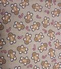 Keepsake Calico Holiday Cotton Fabric 43\u0022-Gingerbread Men