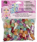 Cousin Bead Girl 125 pk Glitter Star Beads-Assorted Colors