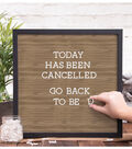 DCWV Letterboard 16x16 Black Frame with Light Wood Center