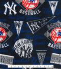 New York Yankees Fleece Fabric -Vintage