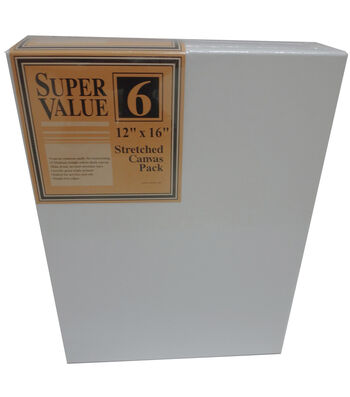 "Stretched Canvas Super Value Pack 12""x16"""