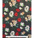 Knit Fabric 57\u0027\u0027-Poppy on Iris Charcoal