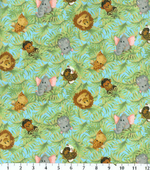 Nursery Flannel Fabric -Tossed Babies