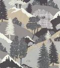 Waverly Upholstery 8x8 Fabric Swatch-Happy Camper/Ebony