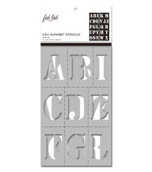 Fab Lab 2 pk 7''x20'' Stencils-Basic Uppercase Alphabet