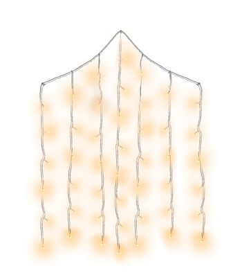 Cascading LED Curtain Lights-Warm White