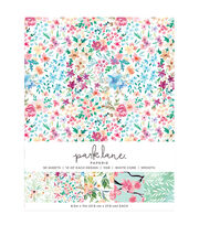 Park Lane 50 pk 8.5''x11'' Value Papers-Floral, , hi-res