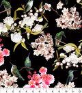 Snuggle Flannel Fabric -Floral & Hummingbirds