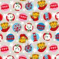 Disney Junior Daniel Tiger Cotton Fabric -Circle