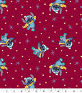 Disney Lilo & Stitch Christmas Knit Fabric-Red